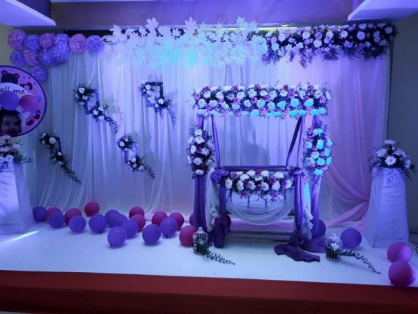 Grand Flower Theme Naming Ceremony Decoration