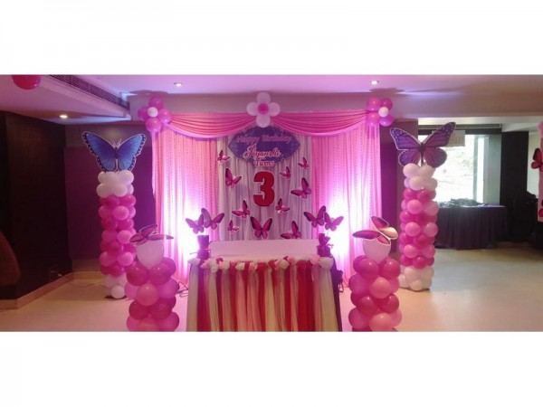 Pink Butterfly Theme Decoration