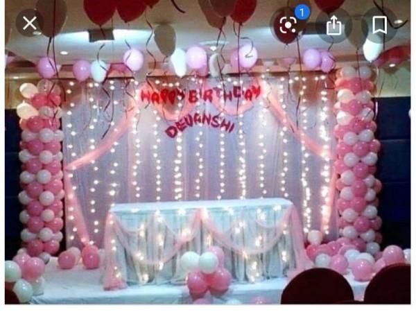 Elegant Balloon Pillar Theme Decoration