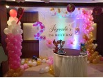 Half Square Balloon Theme Decoration