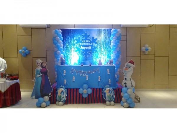 Frozen balloon theme decoration