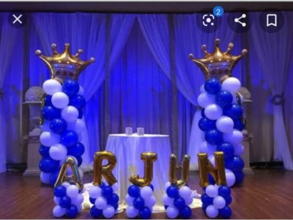 Best Drape And Balloon Prince Theme Decoartion