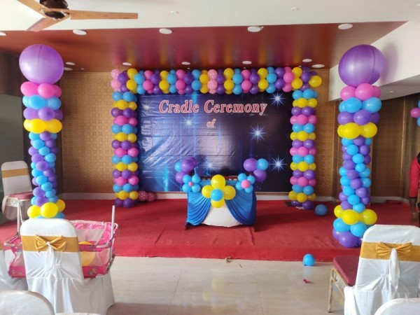 Best Square Frame And Balloon Pillar theme Decoration