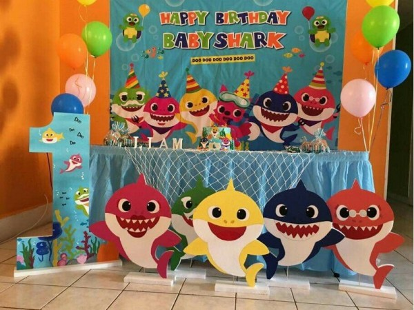 Cute Baby Shark Balloon Decoration