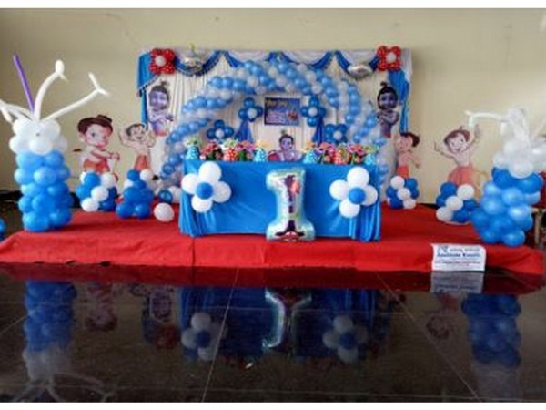 Cute Krishna And Chota Bheem Theme Decoartion