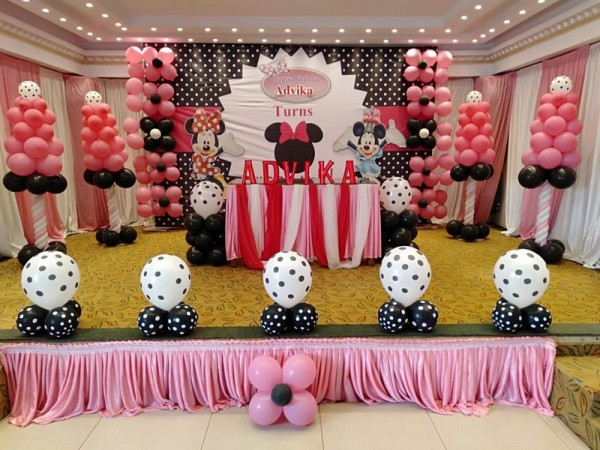 Minnie Mouse Birthday Theme Decoration.