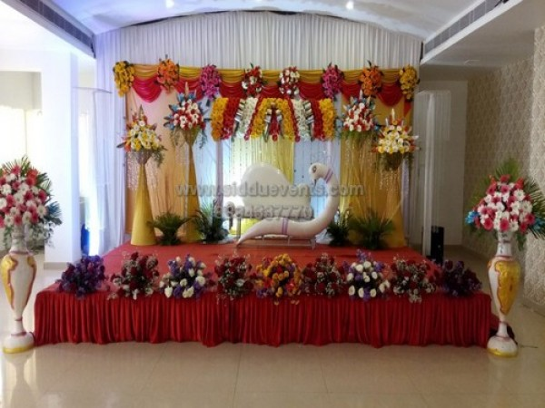 Beautyful Drape And Flower Baby Shower Decoration