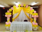 Balloon And Drape For Baby Shower Decoration