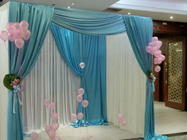 Simple Drape Decoration For Baby Shower
