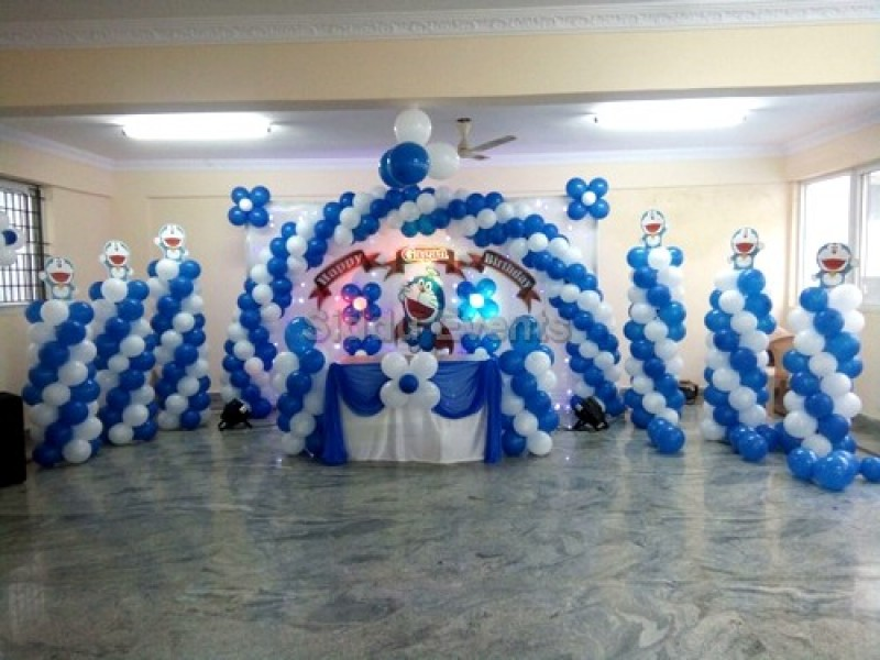 Doremon And Chota Bheem Decoration For Birthday Party2
