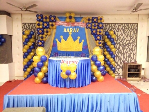 Basic Prince Crown Theme Decoration