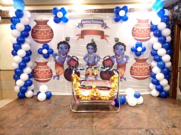 Basic Krishna Theme Decoration