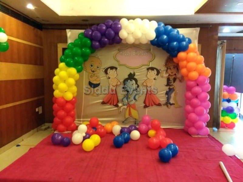 Multi Colour Chota Bheem Theme Decoration