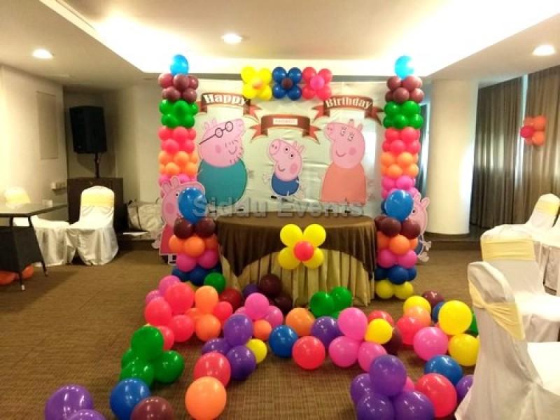 Colorfull Peppa Pig Theme Decoration