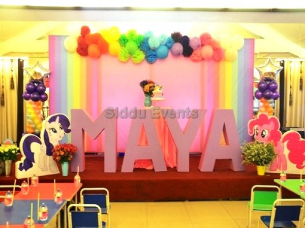 Unique Rainbow Theme Decoration For Birthday Party