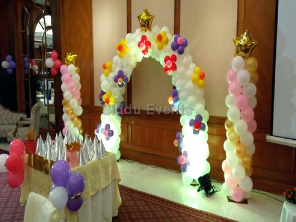 Simple Birthday Decoration For Party Hall