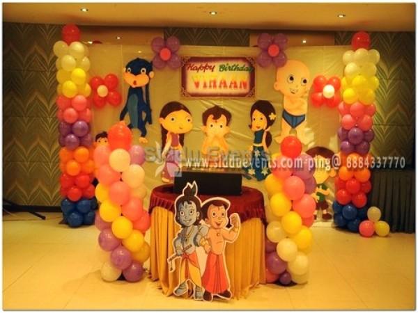 Colourfull Chotabheem Theme Decoration