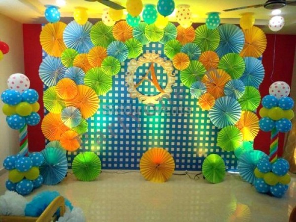 Paper Craft Backdrop Decoration