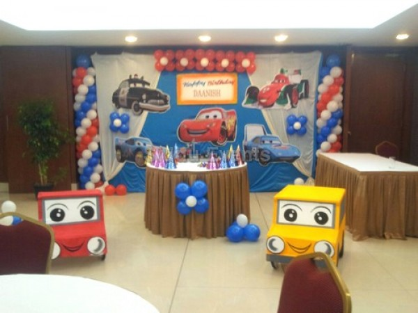 Cute Car Theme Decoration For Birthday