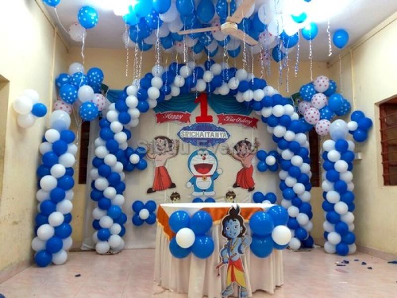 Doremon And Chota Bheem Decoration For Birthday Party