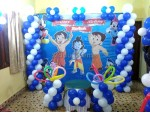 Chota Bheem And Krishna Theme Decoration