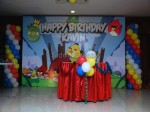 Angry Bird Theme Decoration For Birthday Party