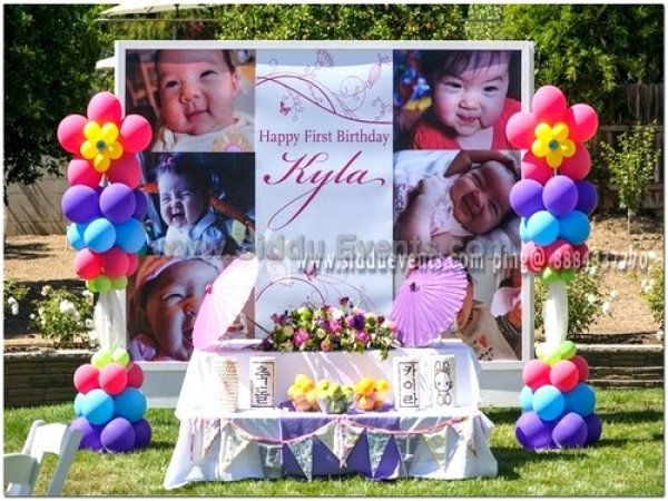 Baby Picture Backdrop Decoration