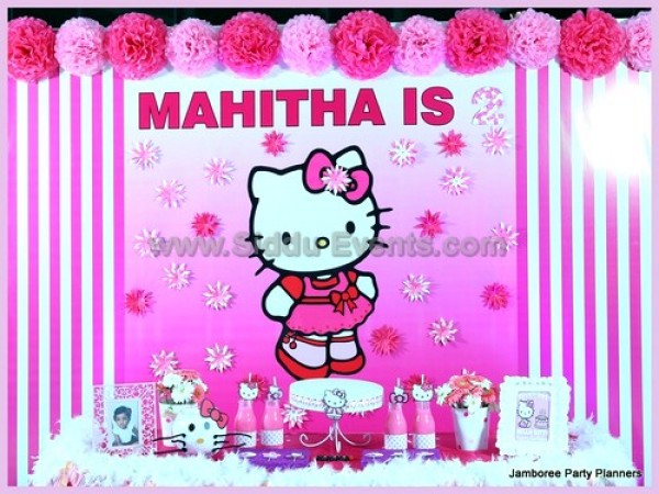 Cute Hello Kitty Theme Decoration