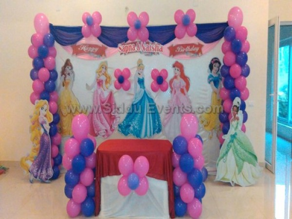 Pink Balloon Princess Decoration