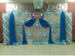 Light Blue Balloon Decoration
