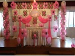 Silver And Pink Balloon Decoration