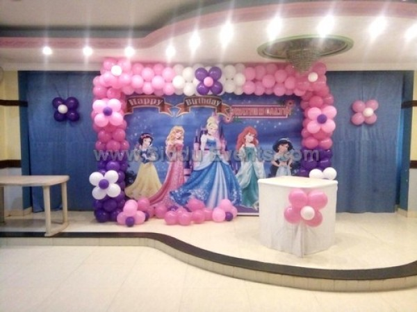 Blue Princess Theme Decoration