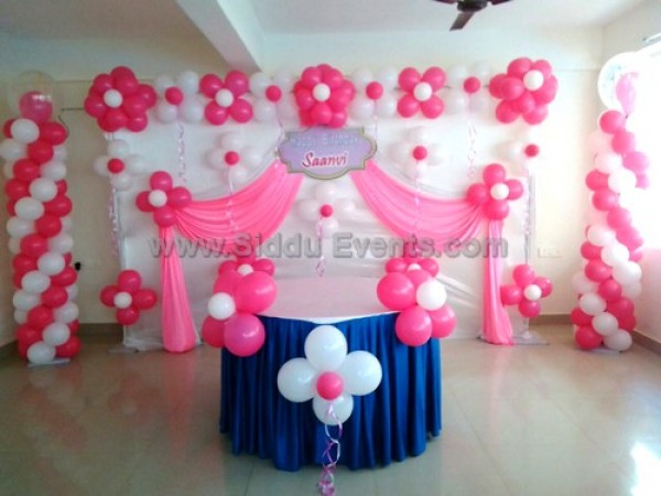 Pink Balloon Backdrop Decoration