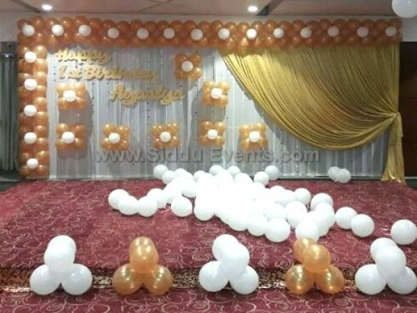 Golden Balloon Theme Decoration