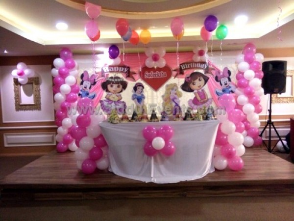 Princess And Dora Theme Decoration