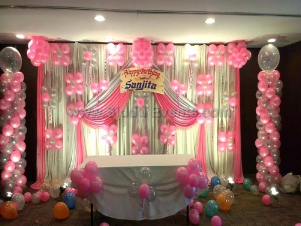 Pink And Silver Theme Decoration