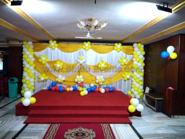 Yellow Drape Decoration