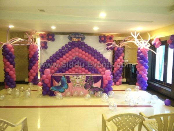 Purple And Pink Backdrop Decoration