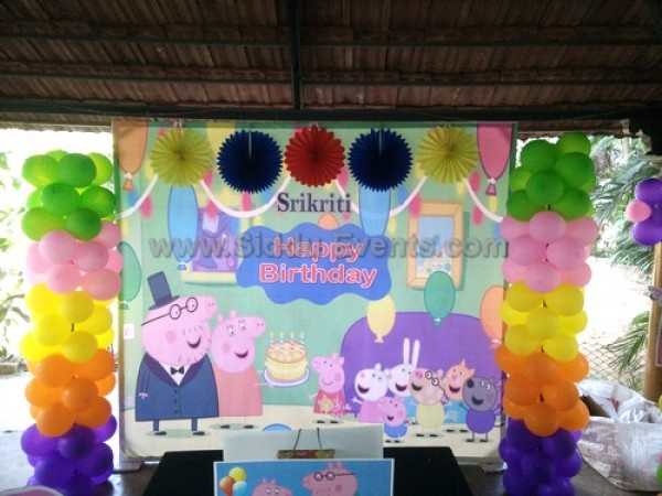 Pepa Pig Theme Decoration