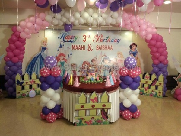 Princess Theme With Balloon Arch Decoration