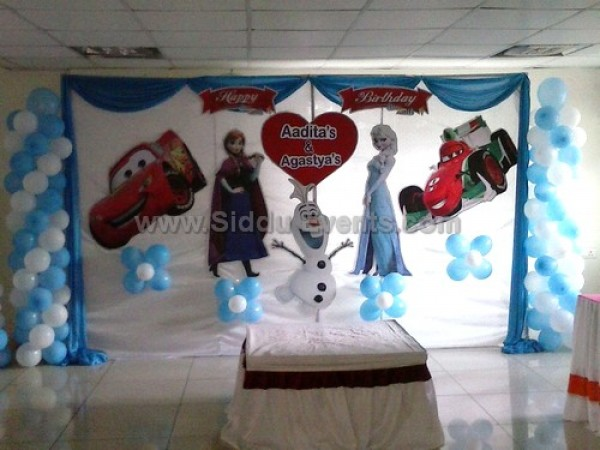 Frozen And Car Theme Decoration