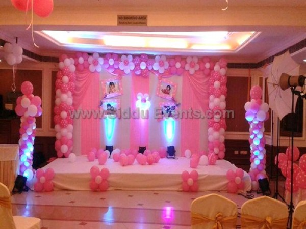 Simple Pink Backdrop Decoration