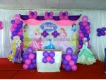 Purple And Pink Balloon Princess Decoration