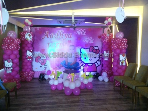 Hello Kitty And Baby Photo Decoration