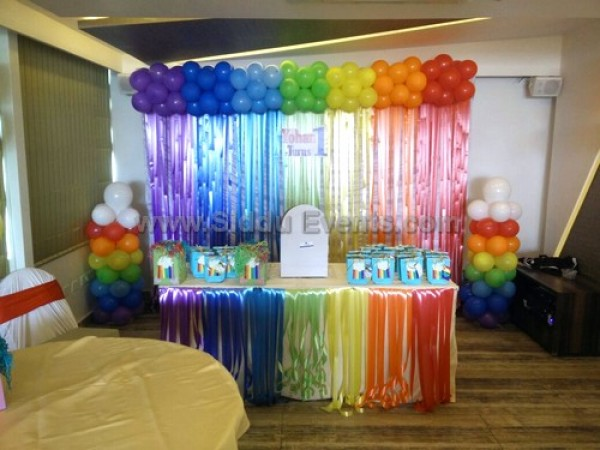 Rainbow Designe Balloon Decoration