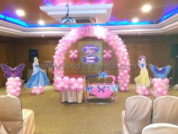 Balloon Arch With Princess Decoration
