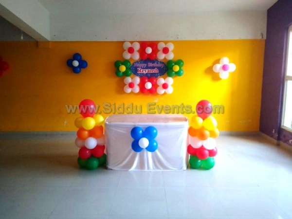 Simple Multi Color Balloon Decoration