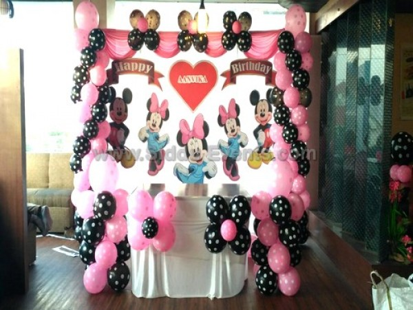 Basic Mickey And Minnie Theme Decoration