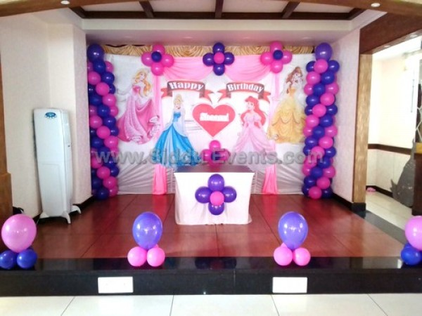 Simple Balloon And Princess Theme Decoration