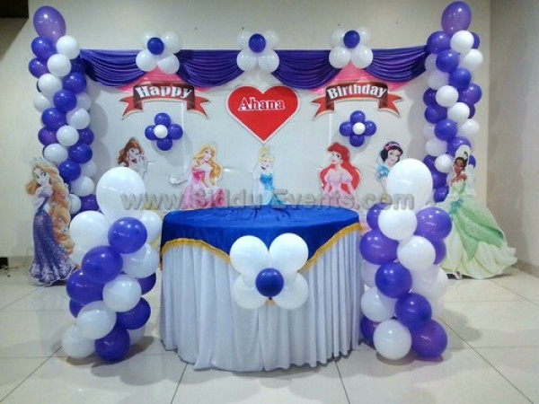 Purple And White Balloon Decoration